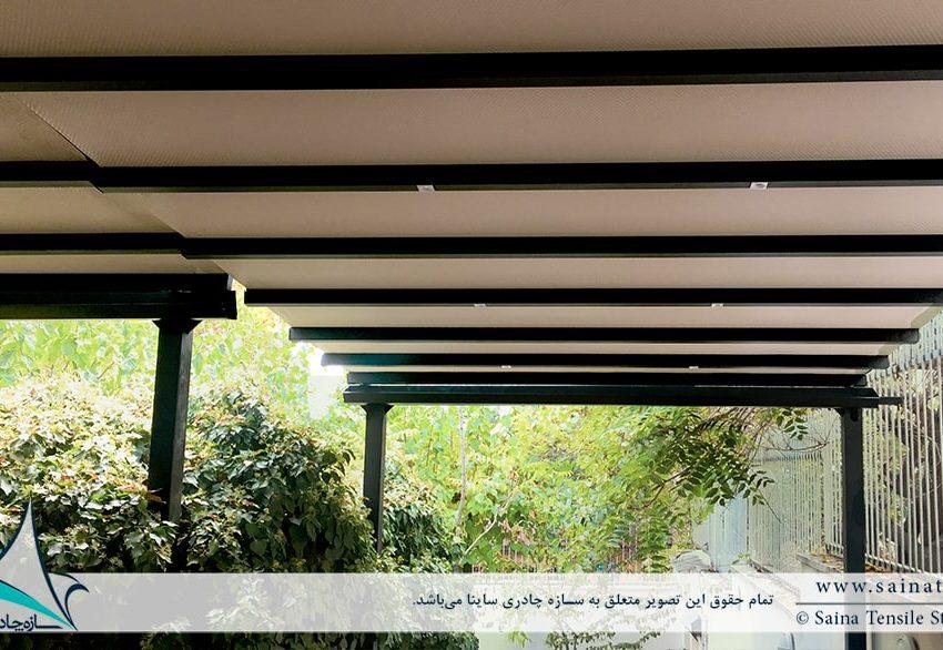 پروژه اجرای سقف متحرک کافه نیاوران