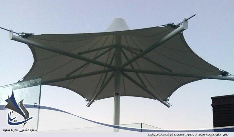اجرای آلاچیق چادری شهرک ویلایی در سیسنگان