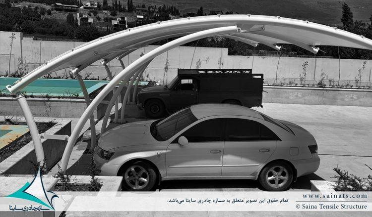 سایبان پارچه ای پارکینگ اتومبیل در مشا