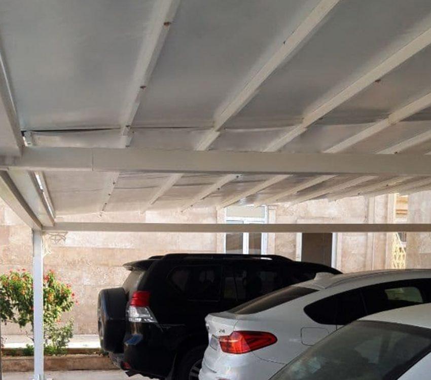 طراحی و اجرای سقف متحرک پارکینگ در سیریک