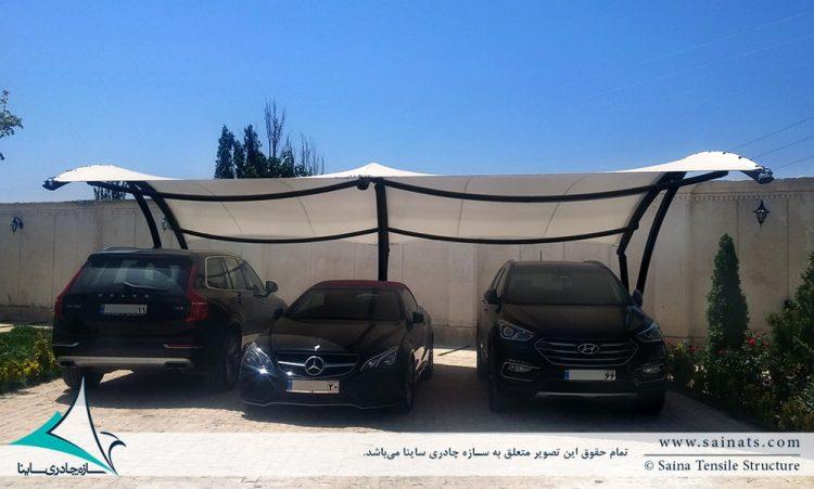 سایبان چادری پارکینگ خودرو