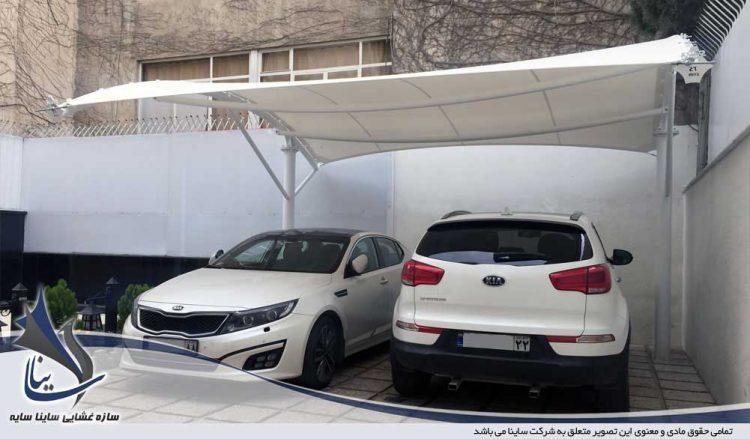 پروژه اجرای سایبان پارکینگ خودرو ساختمان اداری میرداماد