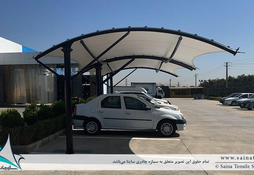 اجرای سایبان پارکینگ ماشین