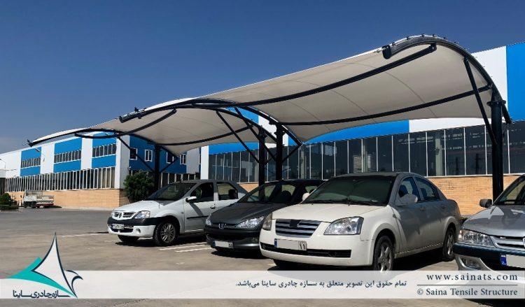 طراحی و اجرای سایبان پارکینگ ماشین