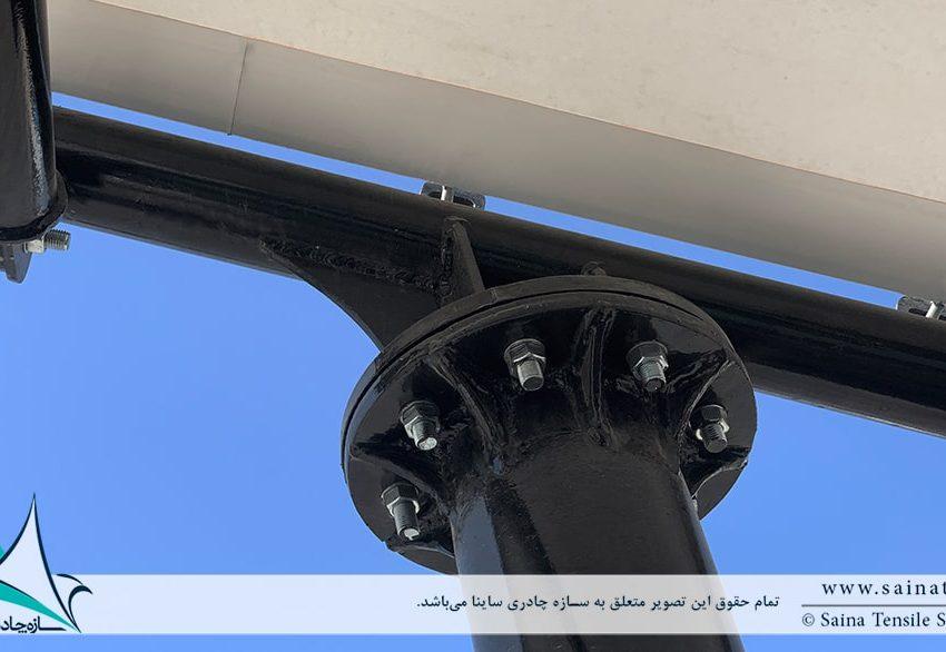 اجرای سایبان پارکینگ ماشین کارخانه الکتروژن