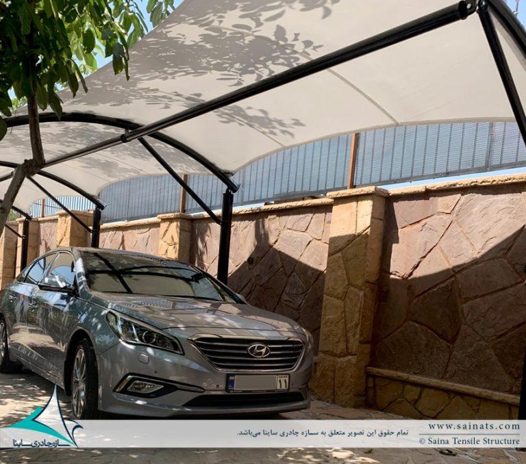 طراحی و اجرای سایبان پارکینگ خودرو در گیلاوند