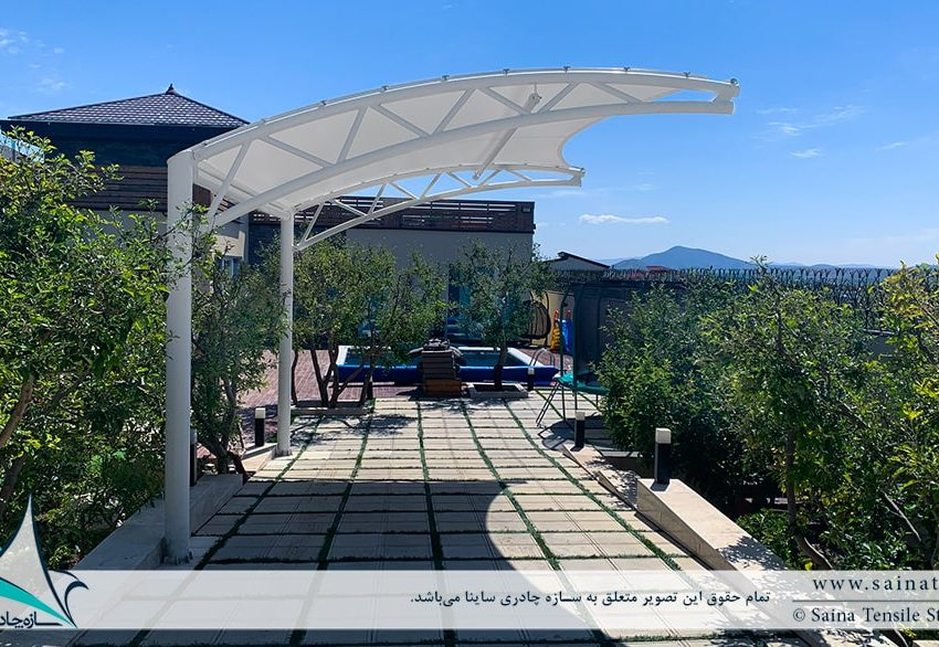 پروژه اجرای سایبان پارکینگ ویلا در روستای جابان در دماوند