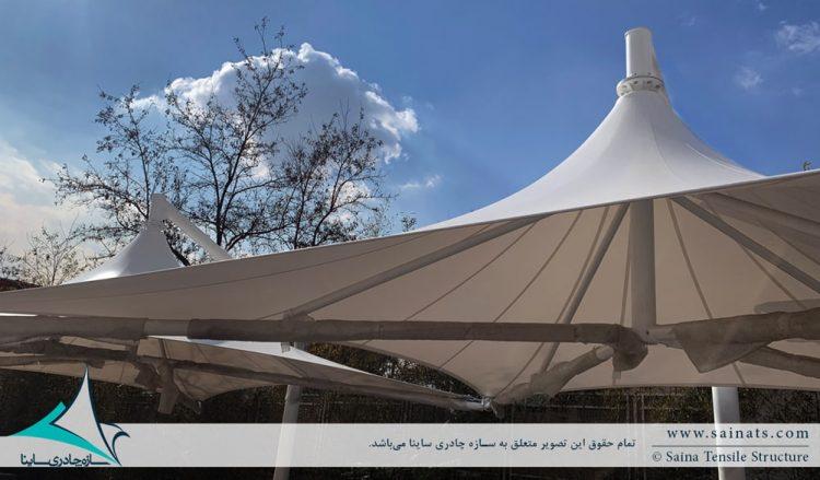 طراحی و اجرای سایبان پارکینگ طرح خیمه در لواسان