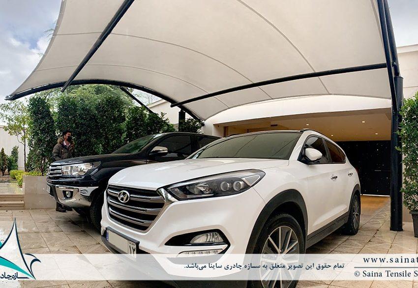 سایبان پارکینگ خودرو ویلا مشهد