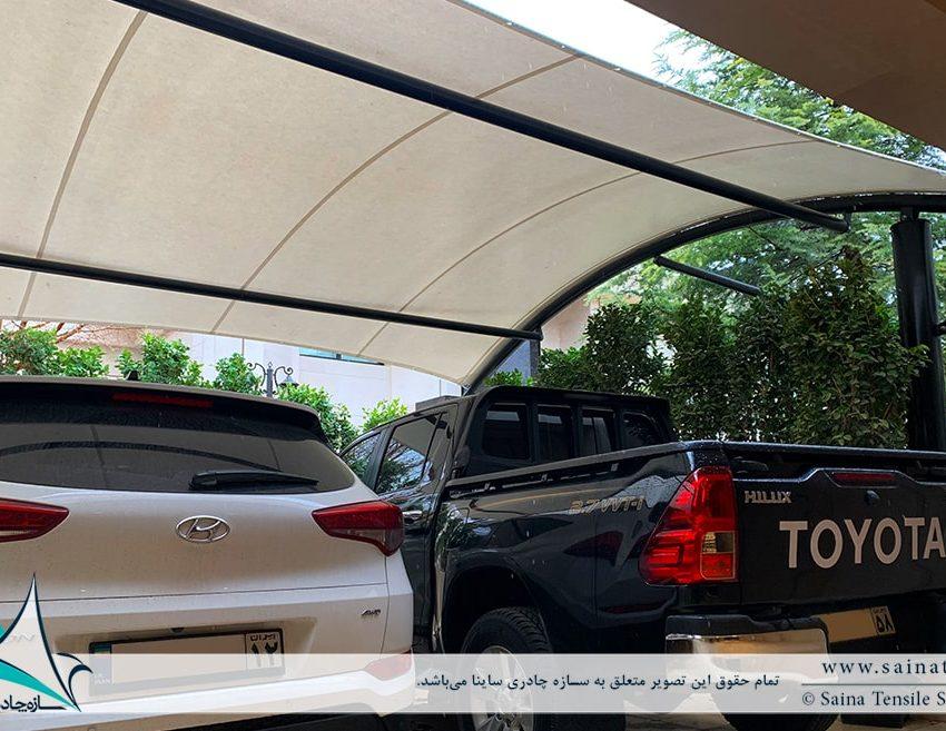 پروژه اجرای سایبان پارکینگ خودرو ویلا در مشهد