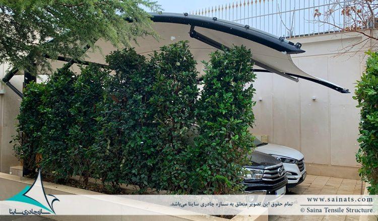 طراحی و اجرای سایبان پارکینگ خودرو ویلا مشهد