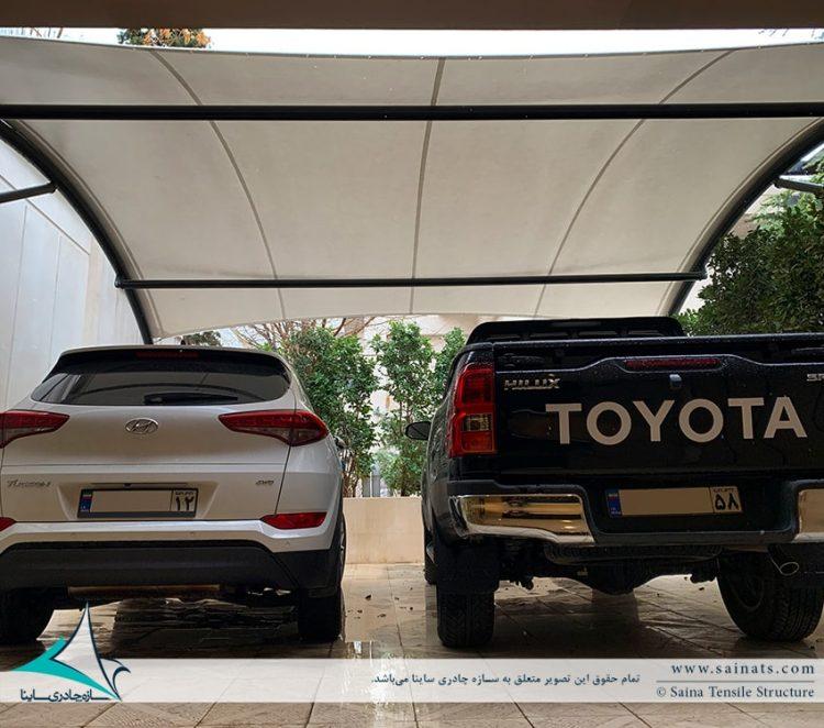 اجرای سایبان پارکینگ خودرو ویلا مشهد