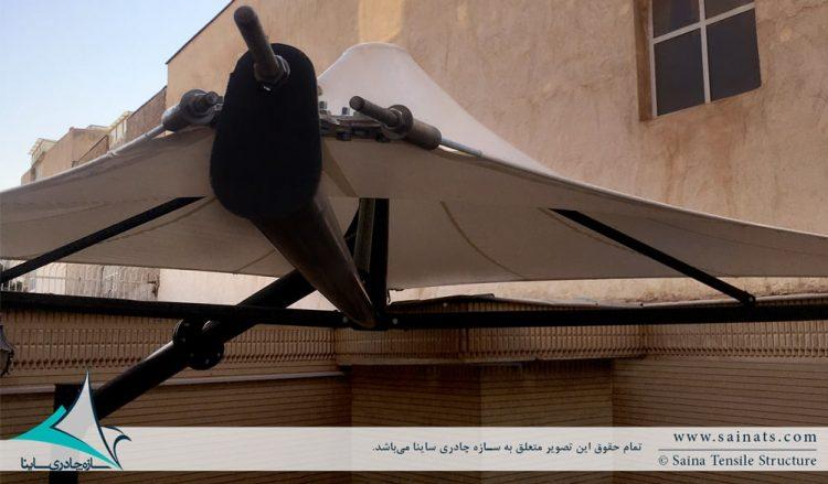 اجرای سایبان پارکینگ خودرو طرح خیمه در شیراز