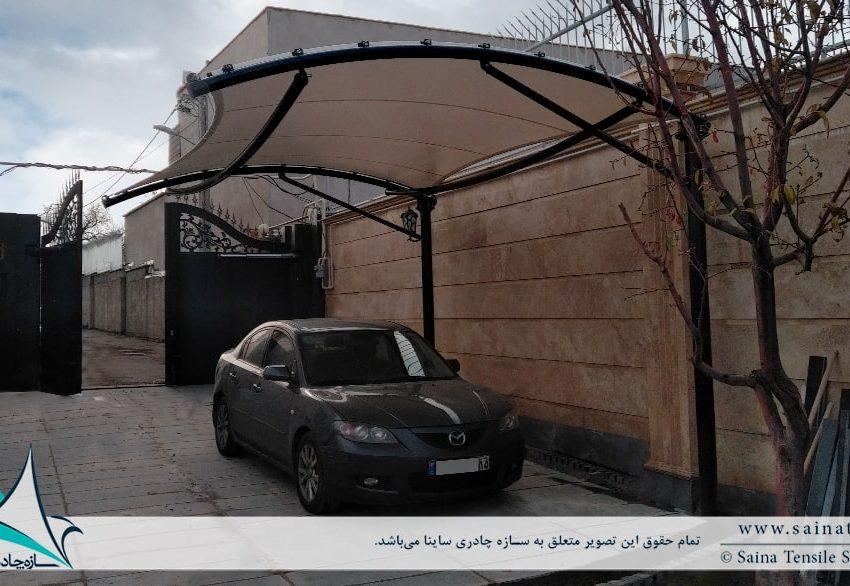 سایبان پارچه ای پارکینگ خودرو در تبریز