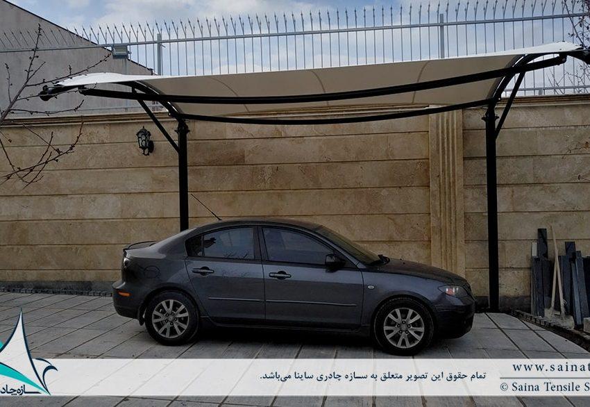طراحی و اجرای سایبان پارکینگ خودرو در تبریز