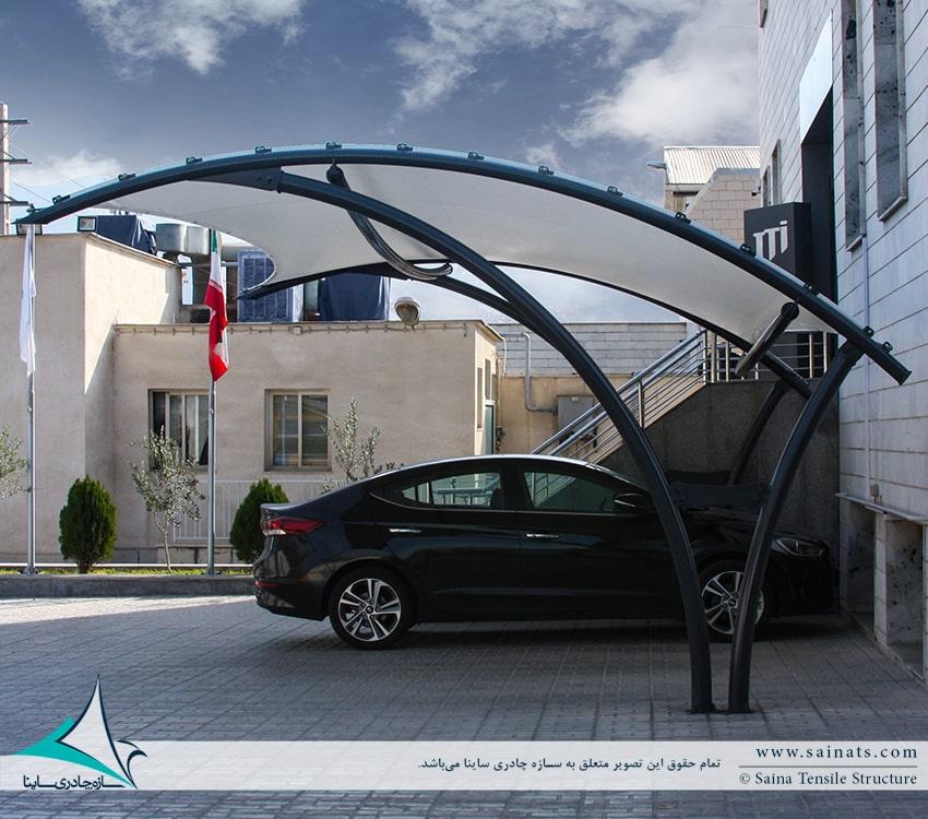 اجرای سایبان چادری پارکینگ ماشین در شرکت JTI