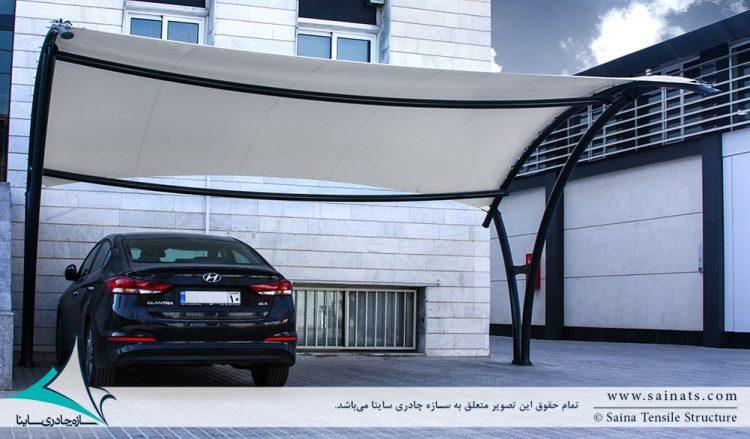اجرای سایبان چادری پارکینگ ماشین