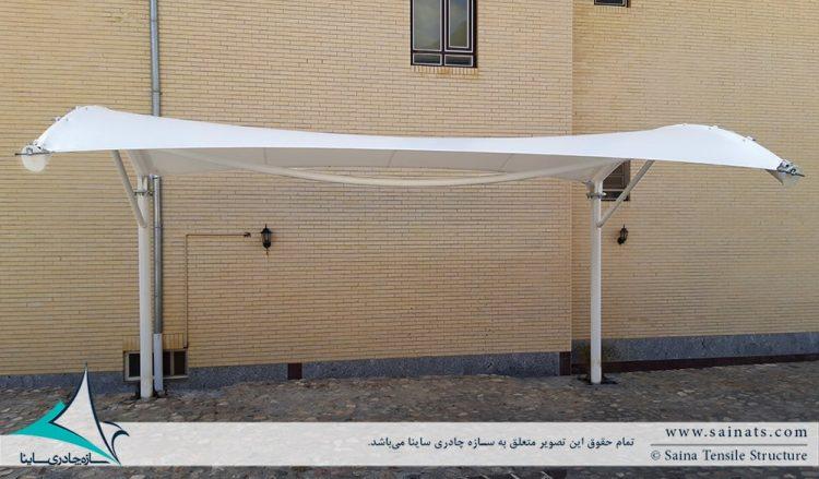 اجرای سایبان پارکینگ ویلا در یزد