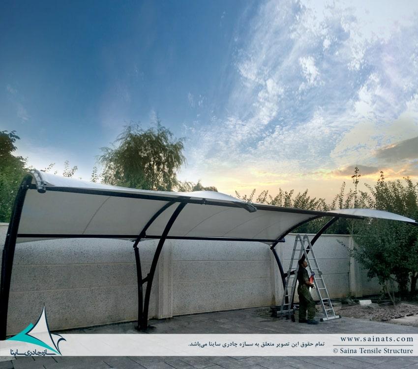 طراحی و اجرای سایبان چادری خودرو