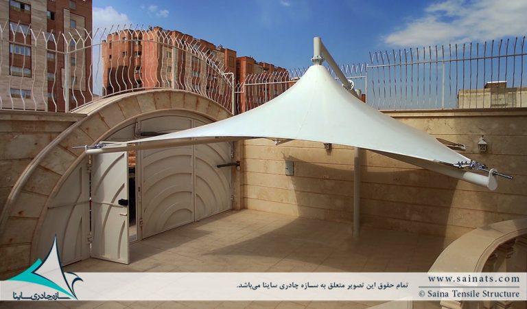 پروژه اجرای سایبان پارکینگ ماشین در جهرم
