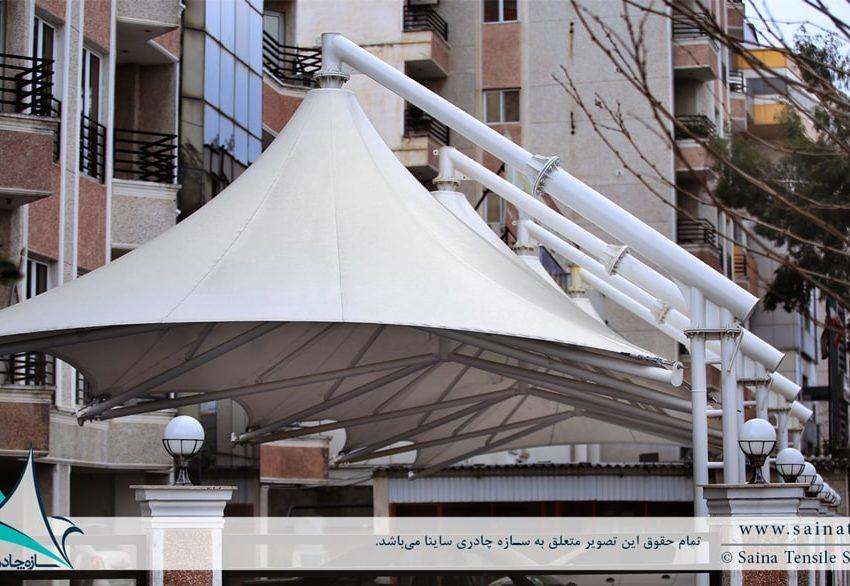 پروژه اجرای سایبان پارکینگ خودرو مجتمع مسکونی در نوشهر