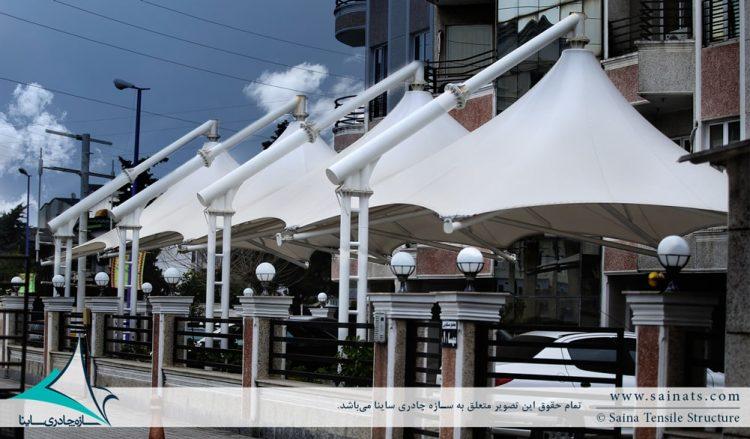 سایبان پارکینگ خودرو مجتمع مسکونی