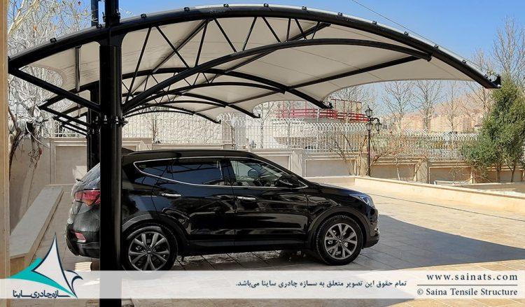 سایبان پارکینگ ماشین شیراز