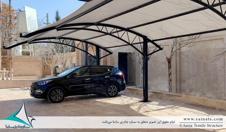 پروژه اجرای سایبان پارکینگ ماشین در شیراز