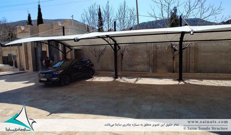 سایبان پارکینگ ماشین در شیراز