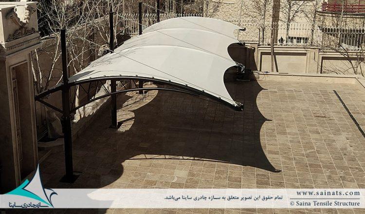 اجرای سایبان پارکینگ ماشین در شیراز