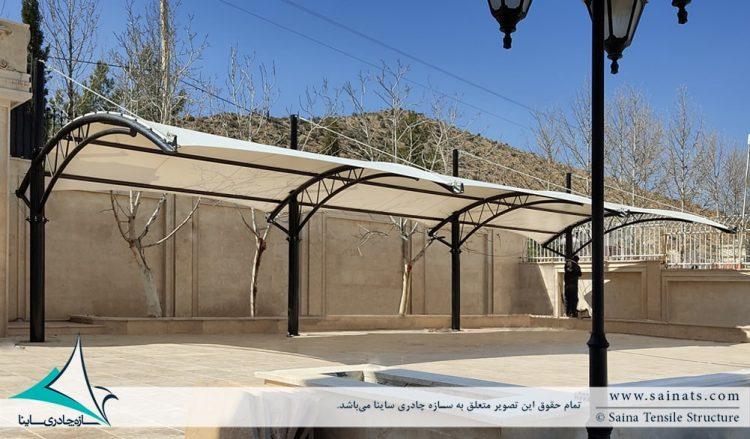 طراحی و اجرای سایبان پارکینگ ماشین در شیراز