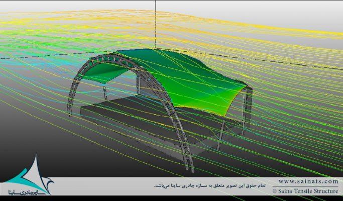 چگونه سازه چادری را در نرم افزار CFD مدل کنیم ؟ | گام اول