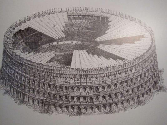 طرح سایبان پارچه کلوسیوم روم