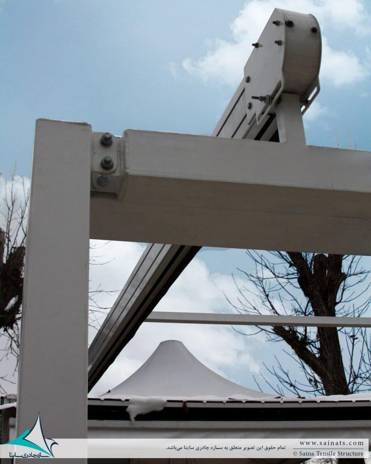 خیمه و سقف متحرک ویلا برغان