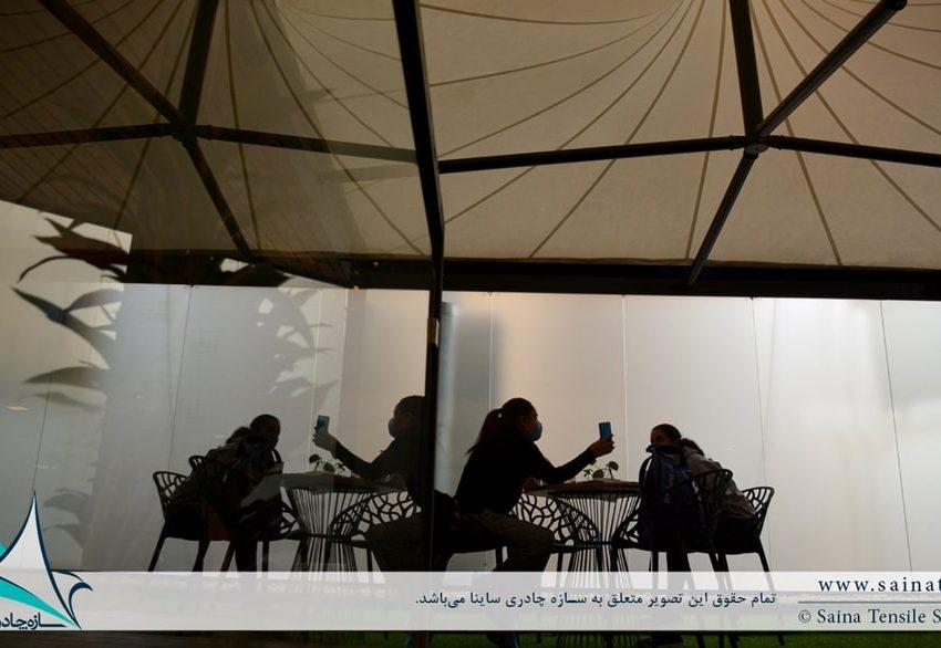 طراحی و اجرای سازه چادری باشگاه ورزشی در نیاوران