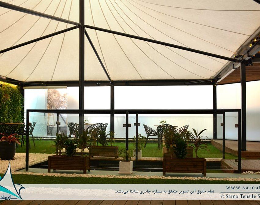 پروژه سازه چادری باشگاه ورزشی در نیاوران