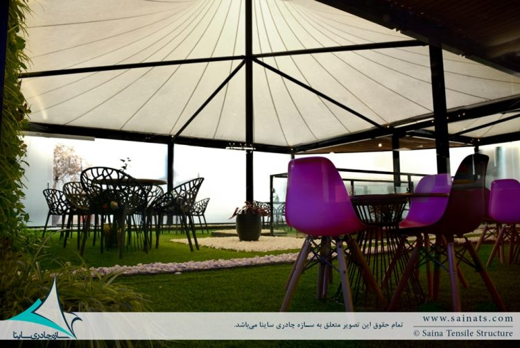 اجرای سازه چادری باشگاه ورزشی در نیاوران