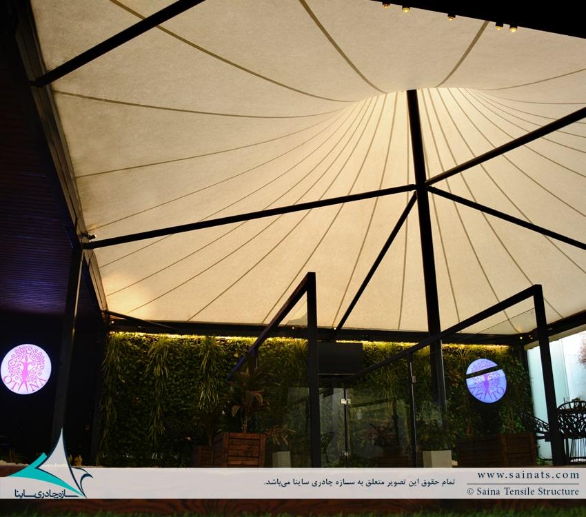 سازه چادری باشگاه ورزشی لیانا در نیاوران