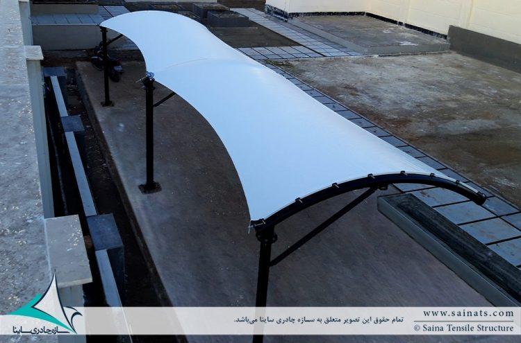 اجرای سایبان پارکینگ خودرو در سهیلیه کرج