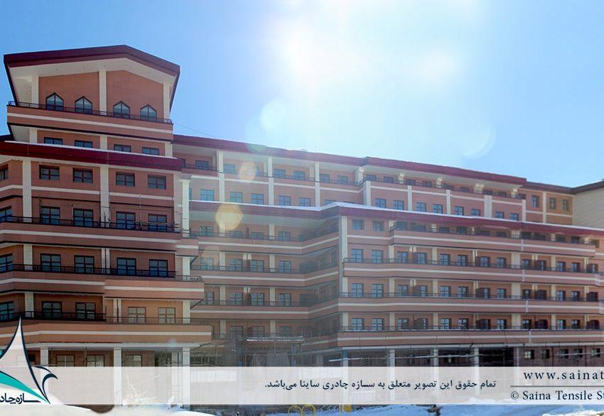 طراحی و اجرای سقف چادری دکوراتیو هتل شرکت نفت آبعلی