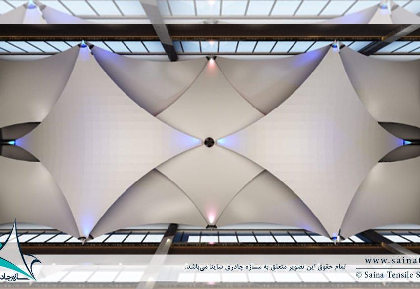 اجرای سقف چادری دکوراتیو هتل شرکت نفت آبعلی