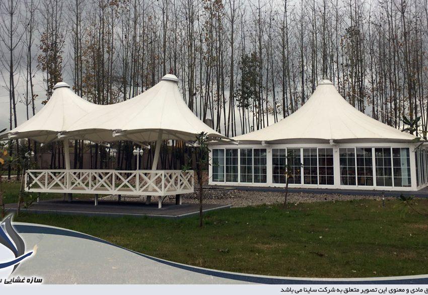 آلاچیق چادری ویلا طرح خیمه دو قله در رشت