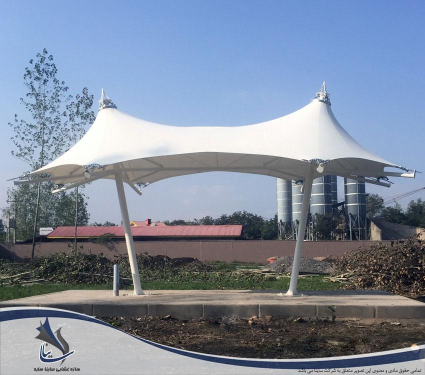 آلاچیق چادری ویلا طرح خیمه دو قله