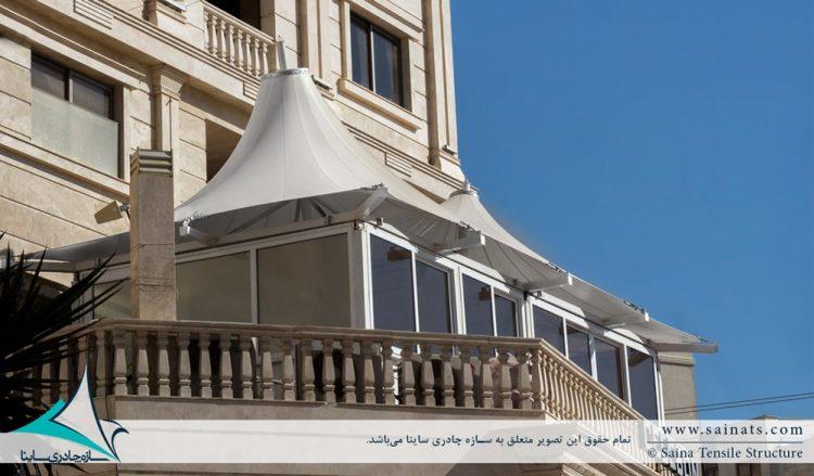 اجرای سقف پارچه ای دوقله در شیراز