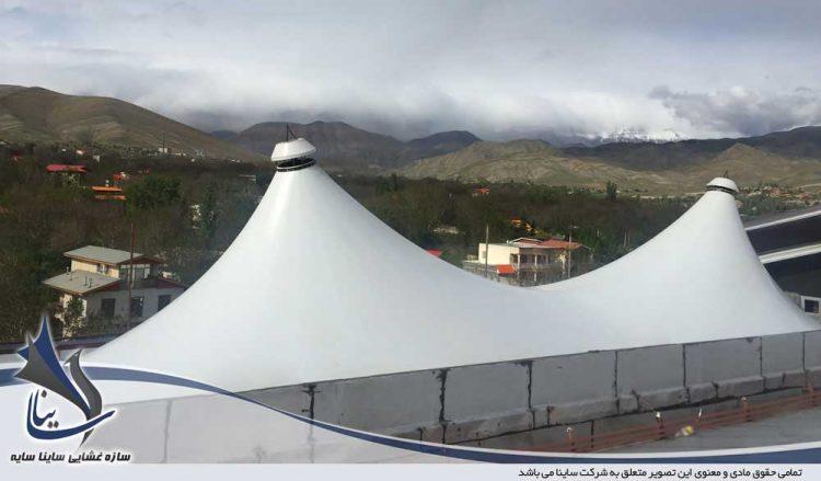 اجرای سقف چادری رستوران ملل گیلاوند