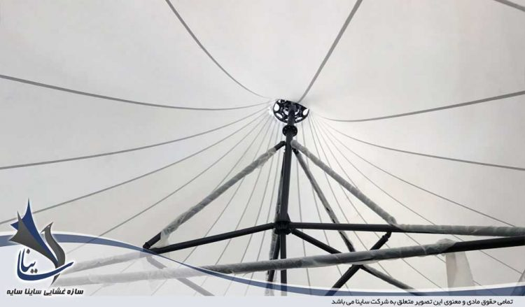 طراحی و اجرای سقف چادری رستوران ملل گیلاوند