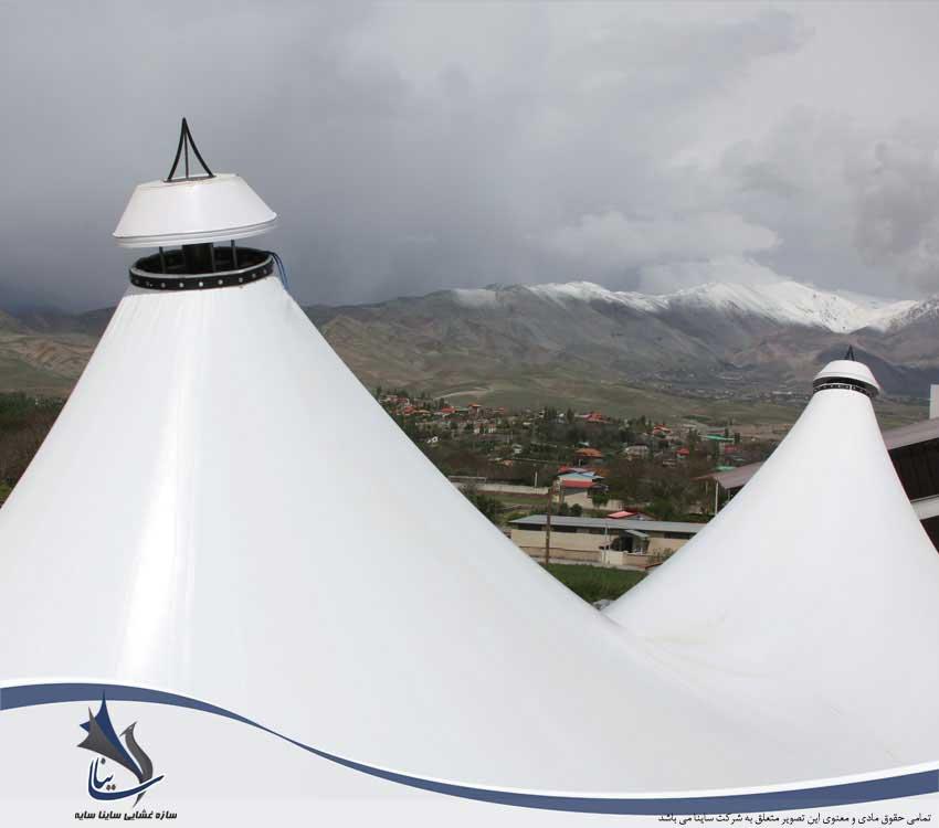 سقف چادری رستوران