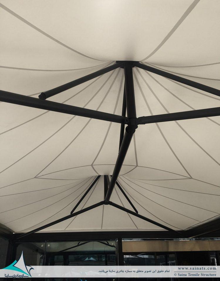 سقف چادری کافه رستوران ایزار