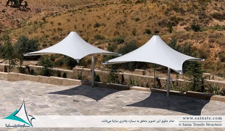 آلاچیق چادری محوطه در قلات شیراز