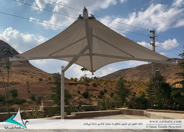 پروژه طراحی و اجرای آلاچیق های چادری محوطه در اقامتگاه شیراز